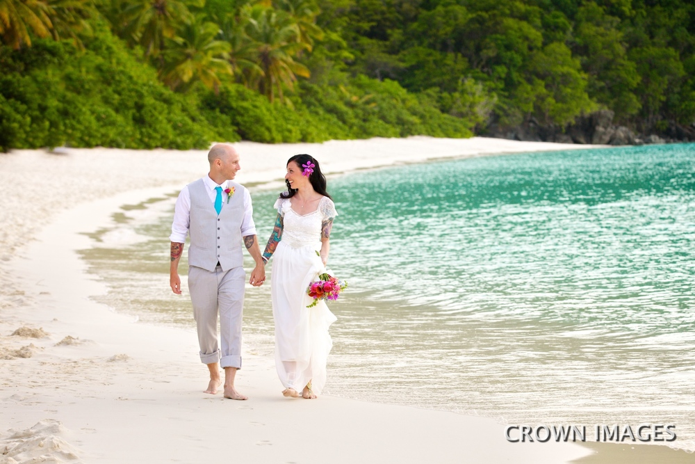 sunset wedding on st john crown images
