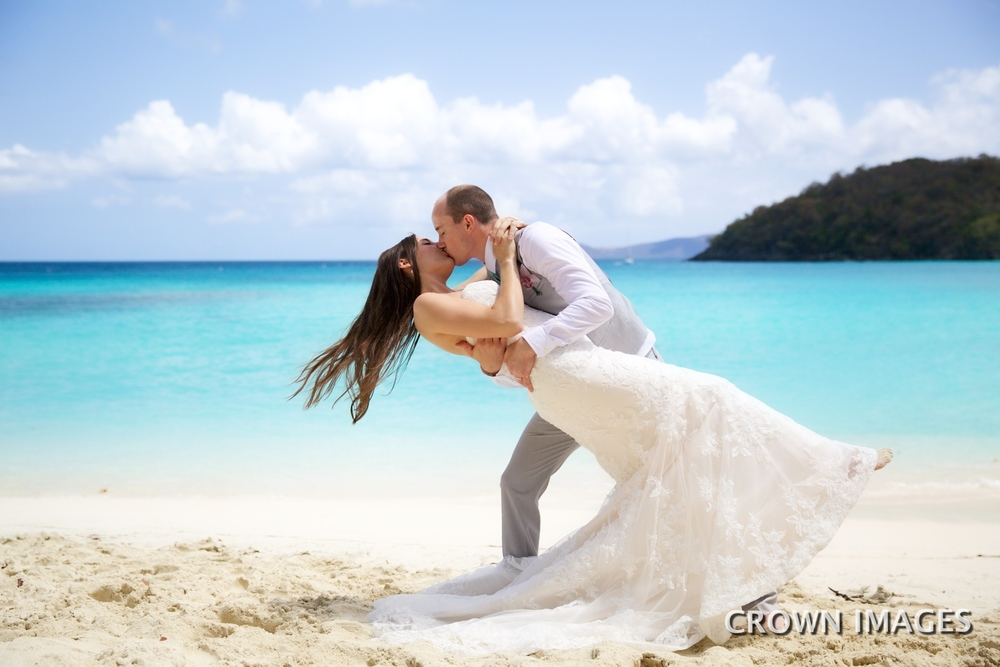 hawksnset bay beach wedding location st john