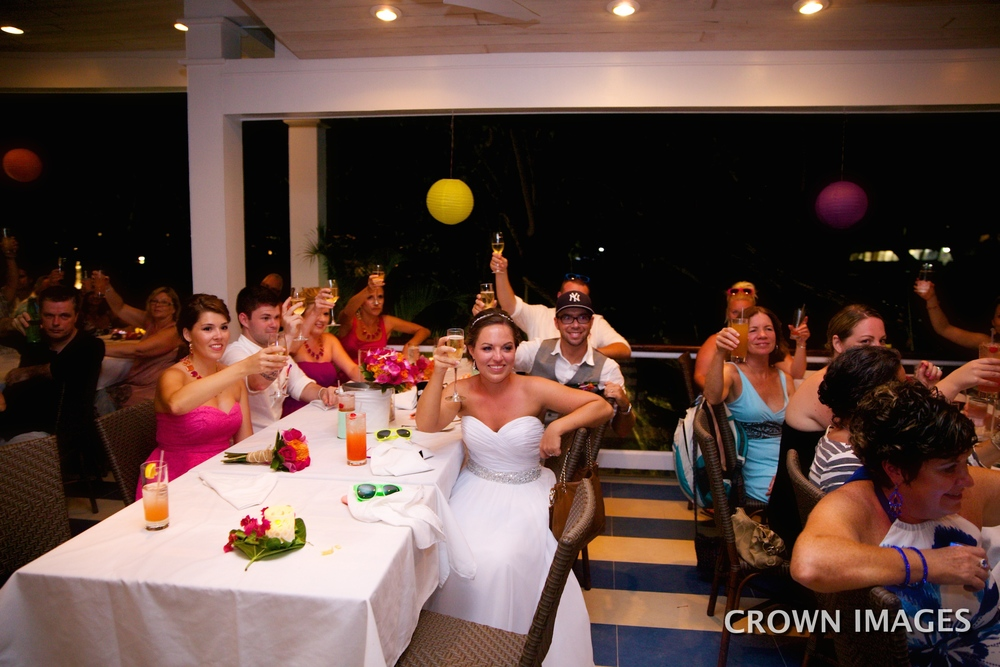 wedding toast at the water front bistro on st john