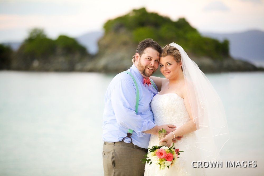 wedding photos on st john by crown images