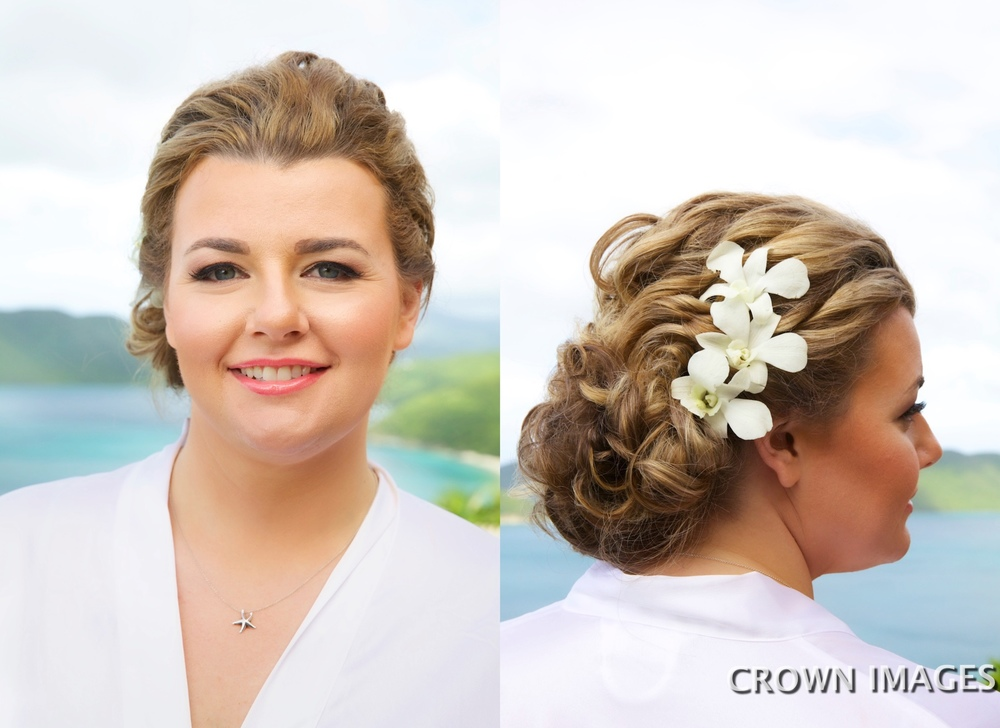 wedding hairstyles for a beach wedding virgin islands