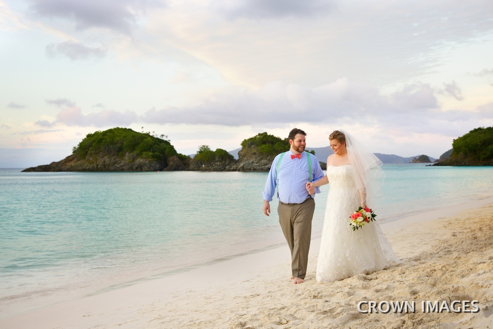 trunk bay beach wedding on st john