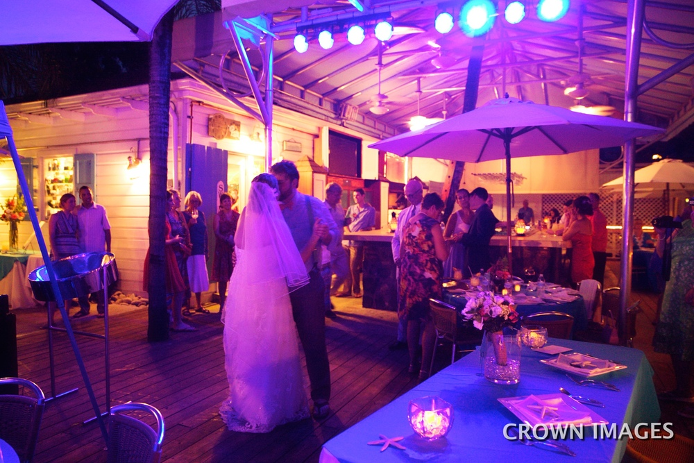 high tide wedding reception st john