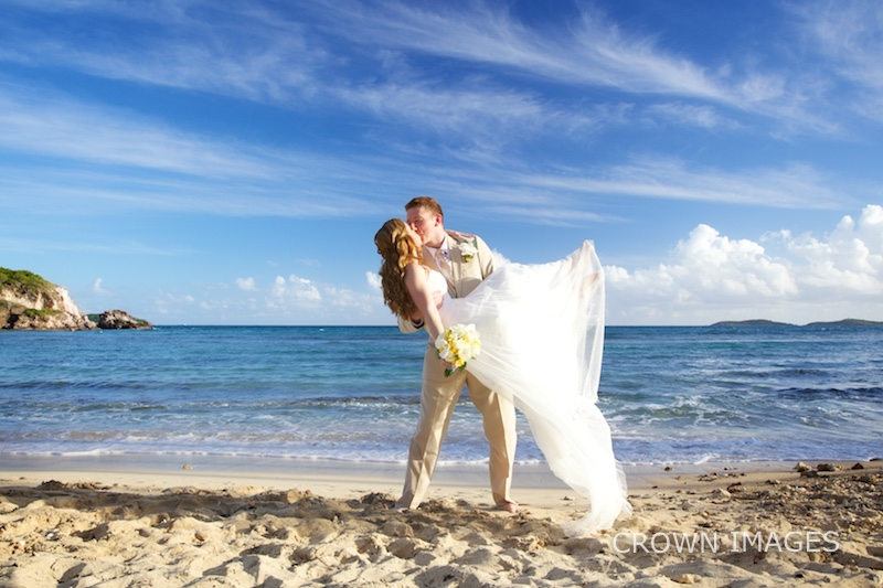 st thomas wedding photos on the beach by crown images