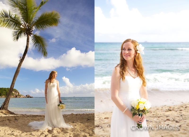 bridal photos on the beach of st thomas