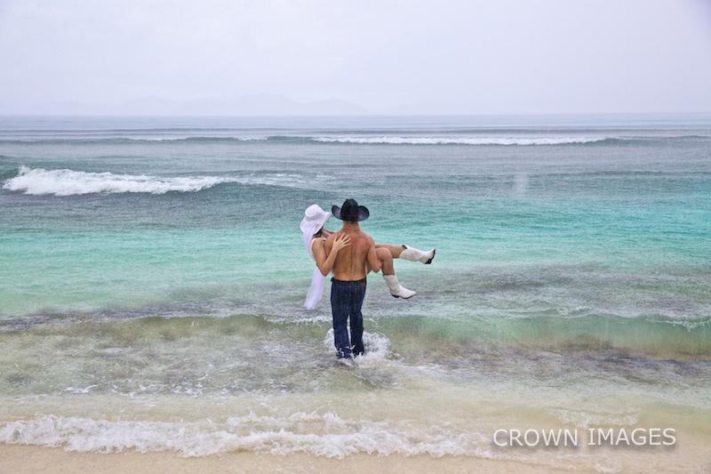 rain at a wedding on st thomas