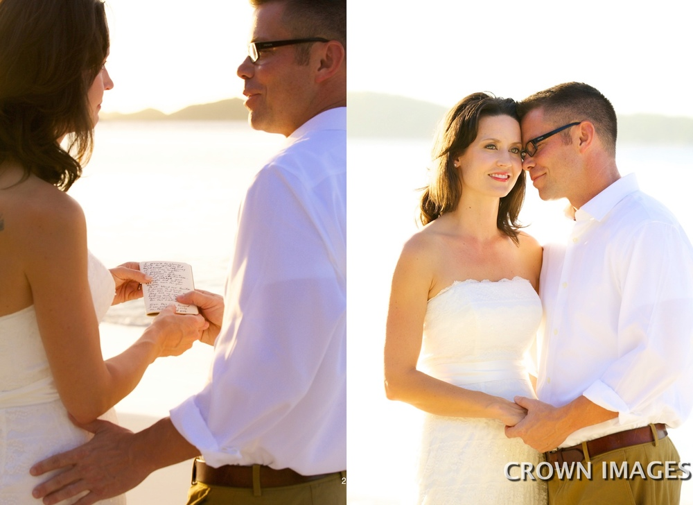 wedding vows on the beach of st john