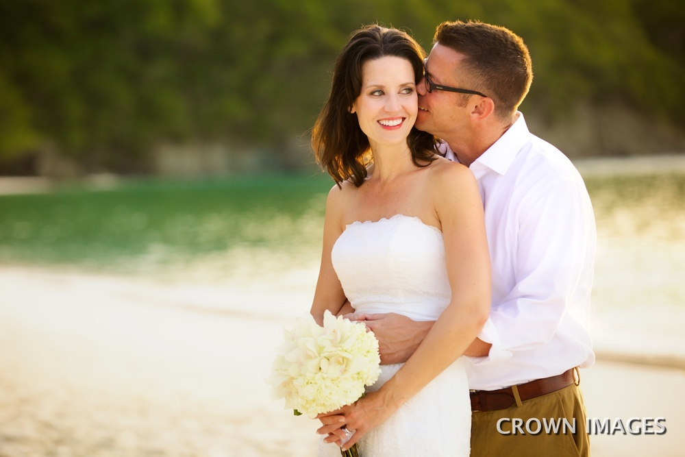 wedding photos at sunset on st john by crown images