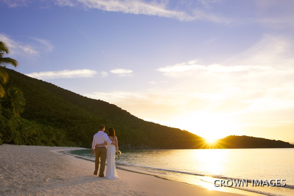 sunset wedding photos on st john in the virgin islands