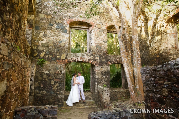 Ruins wedding in the virgin islands