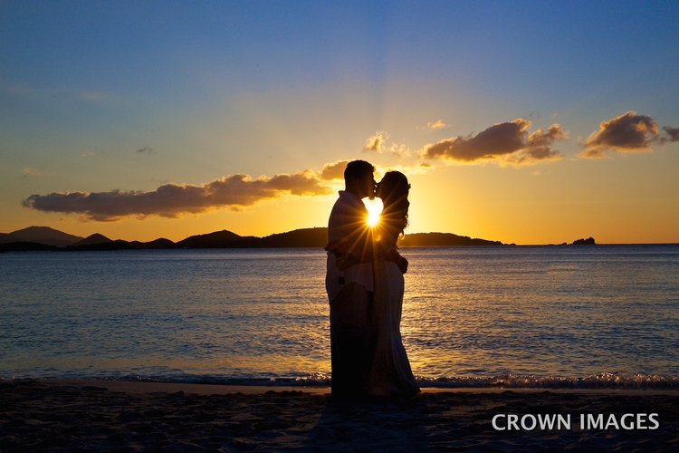 sunset wedding on st john photos