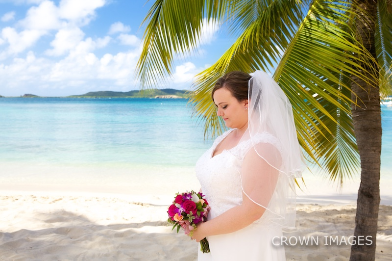 beach bride in the virgin islands