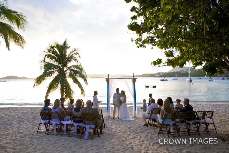 beach wedding photos at a resort on st thomas in the virgin islands