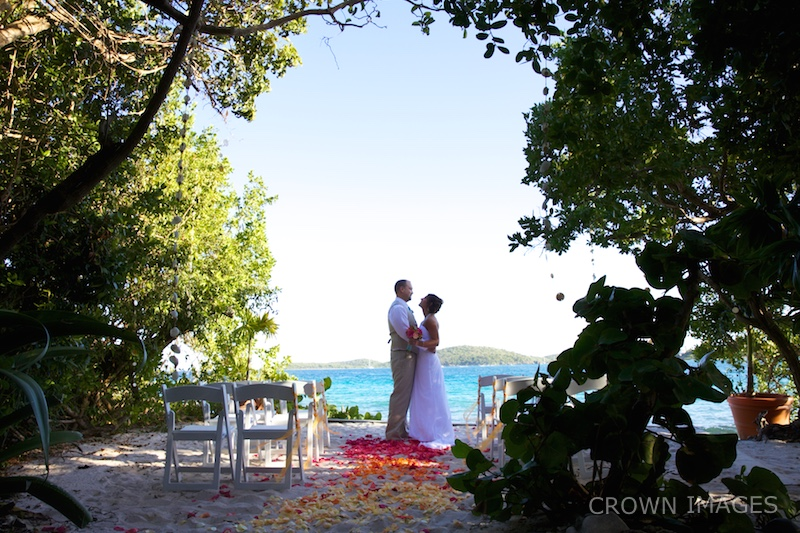 wedding photos on st thomas virgin islands