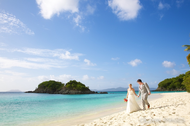trunk bay beach wedding photos by crown images