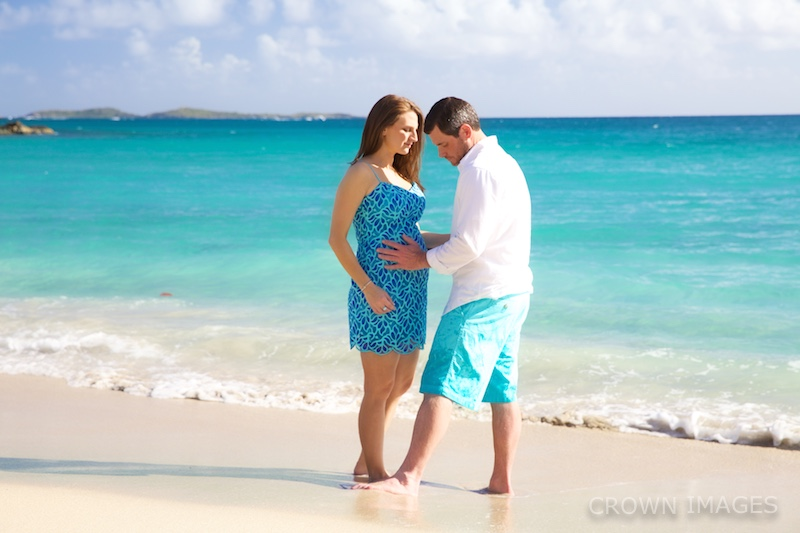 maternity photos virgin islands