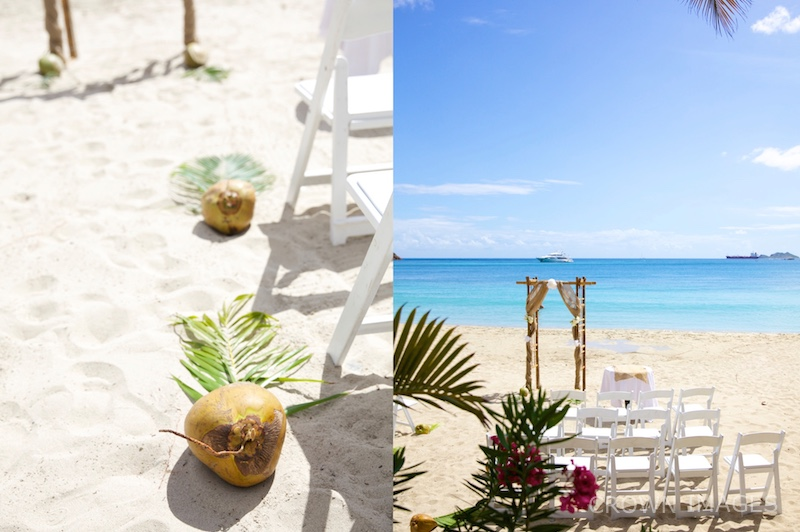 beach wedding ceremony ideas for set up st thomas