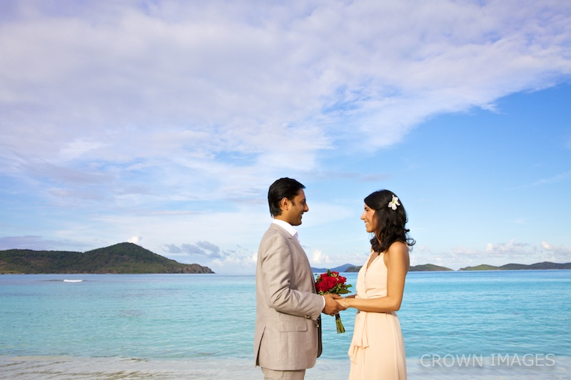 wedding of just two in the virgin islands