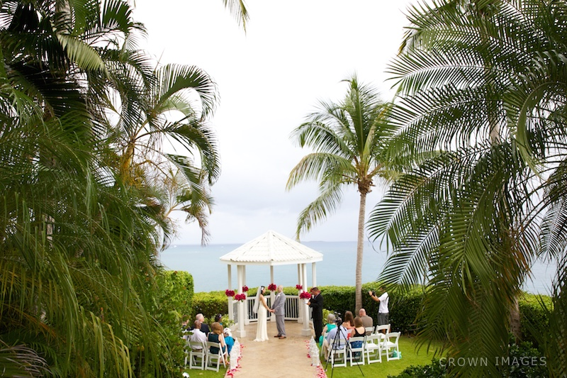 frenchmans reef marriott resort wedding ceremony at gazebo s thomas