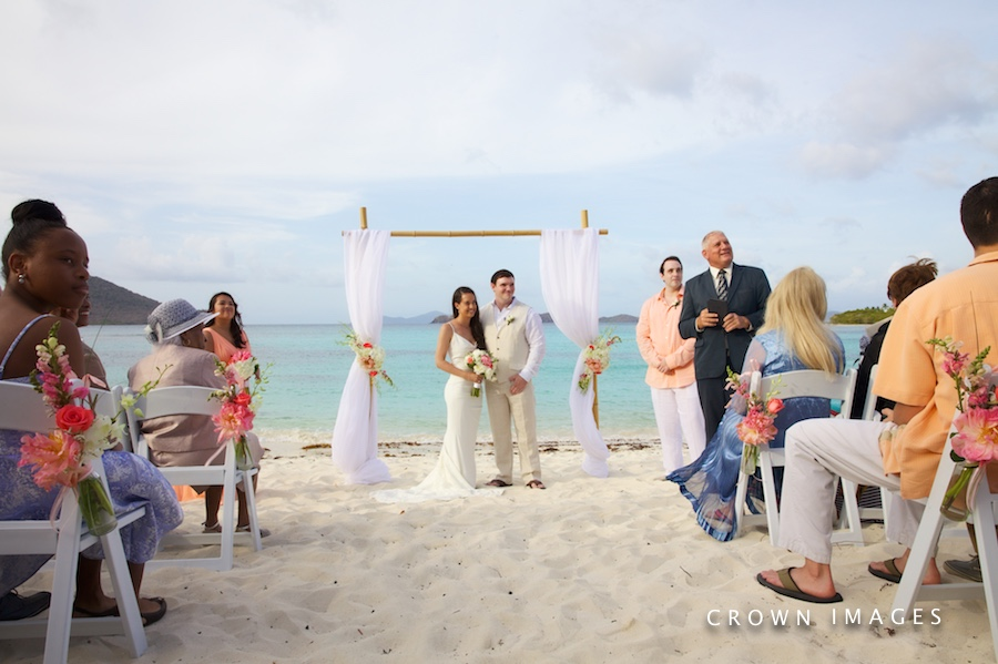 wedding ceremony by blue sky ceremony