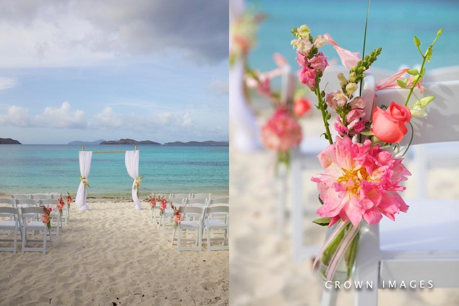 wedding arch on st thomas beach