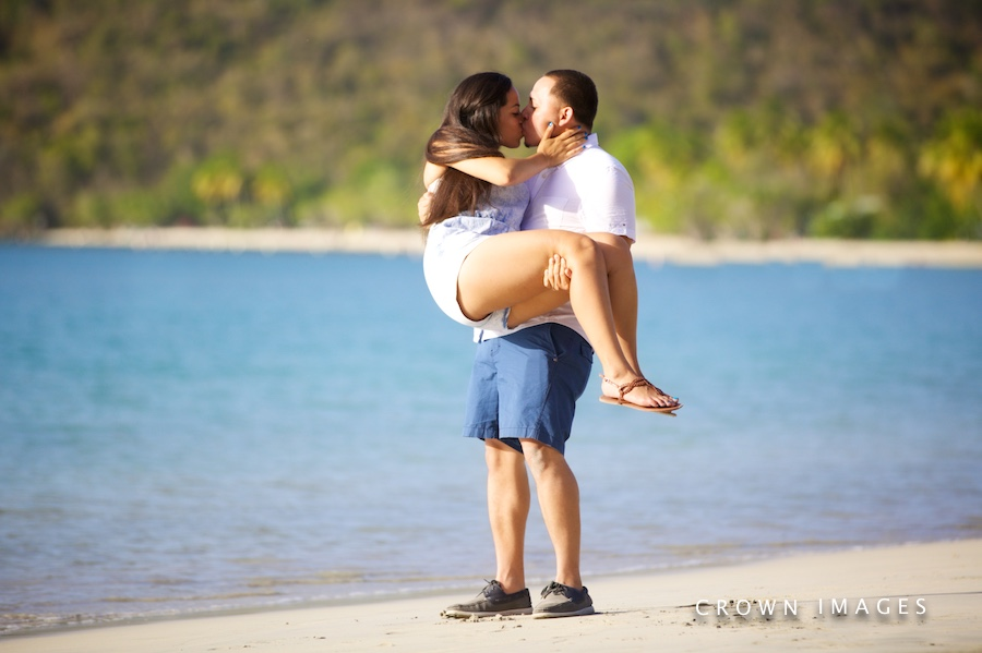 engagement photos on st thomas by crown images