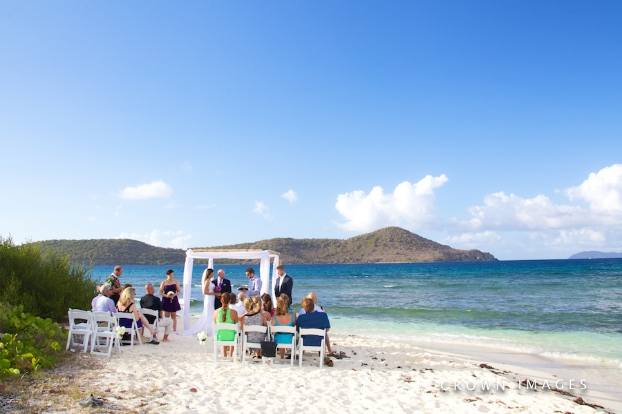 wedding on lindquist bay beach st thomas