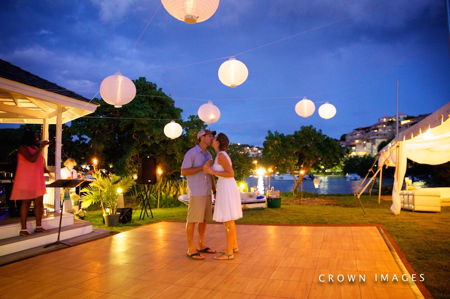 gallows point resort st john wedding reception