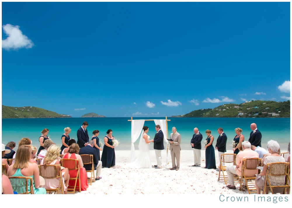 st thomas beach wedding crown images