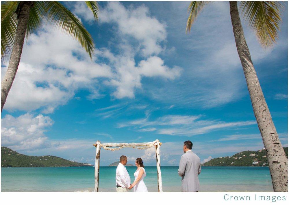 beach wedding ceremony st thomas virgin islands