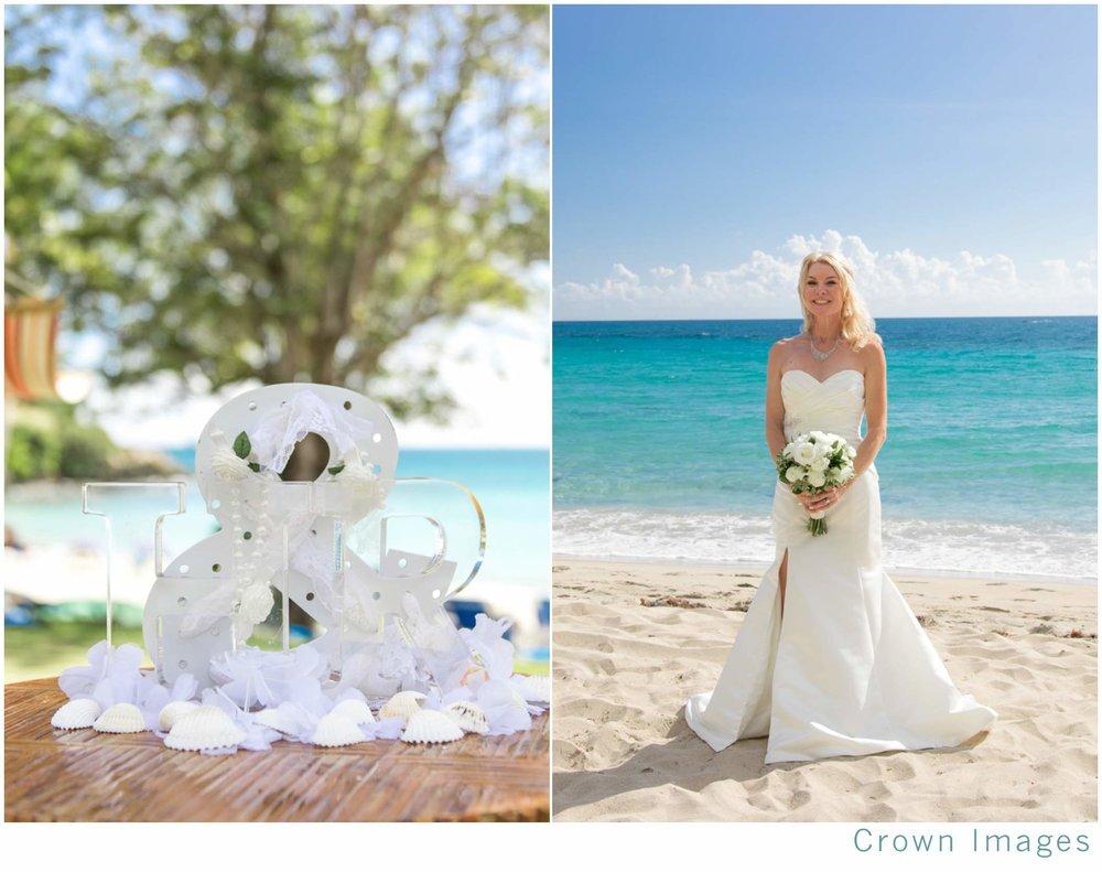 St Thomas Beach Wedding — CROWN IMAGES