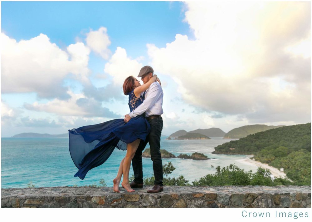 virgin islands engagement session
