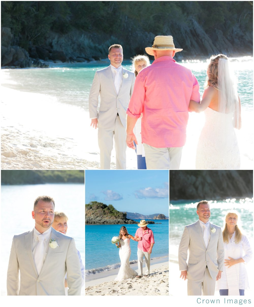 beach wedding on st john