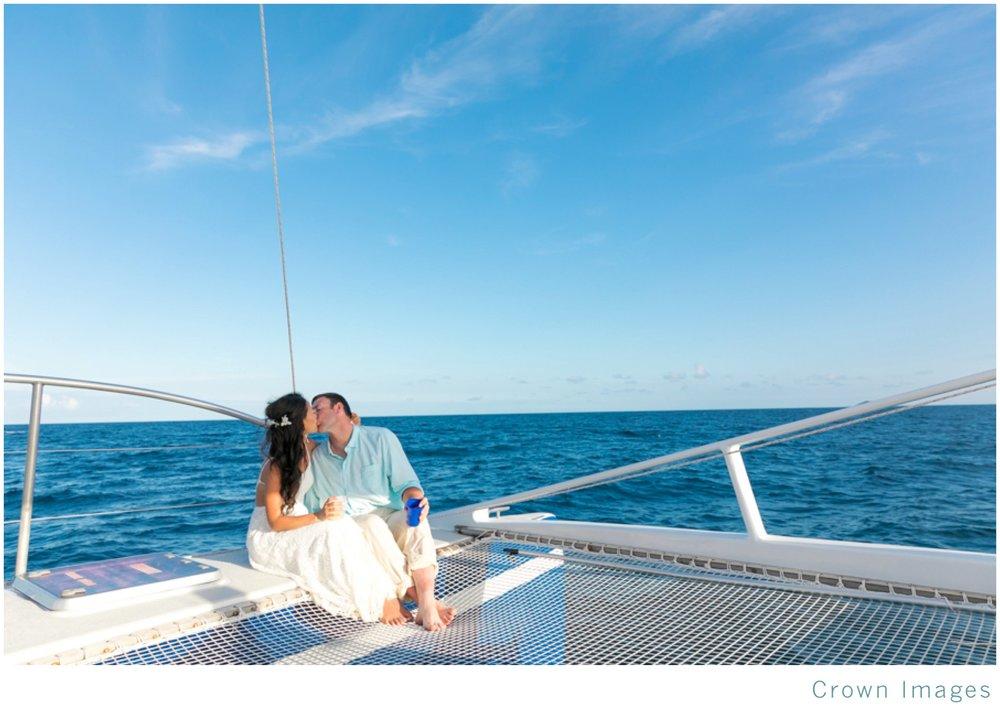 sunset sail after a st thomas beach wedding
