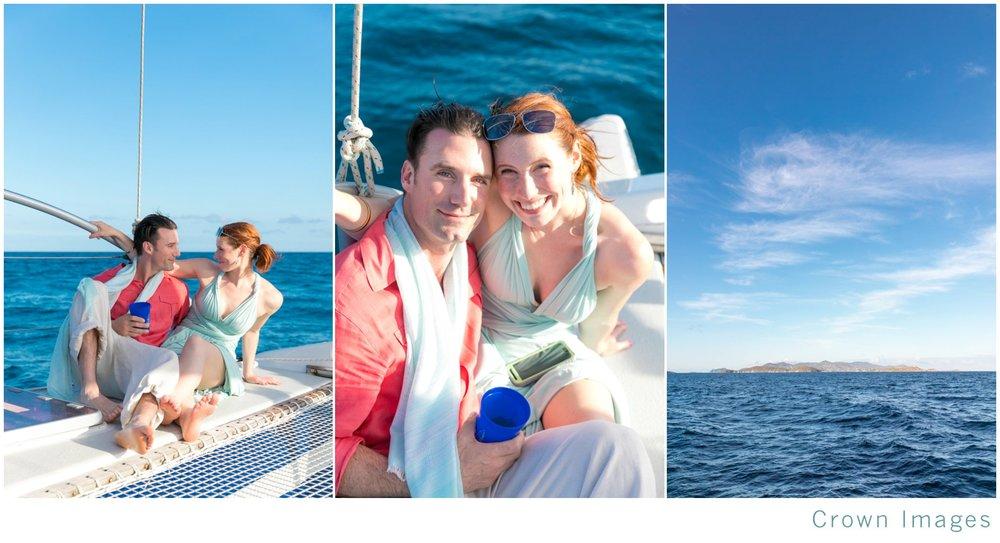 wedding on a sunset sail st thomas