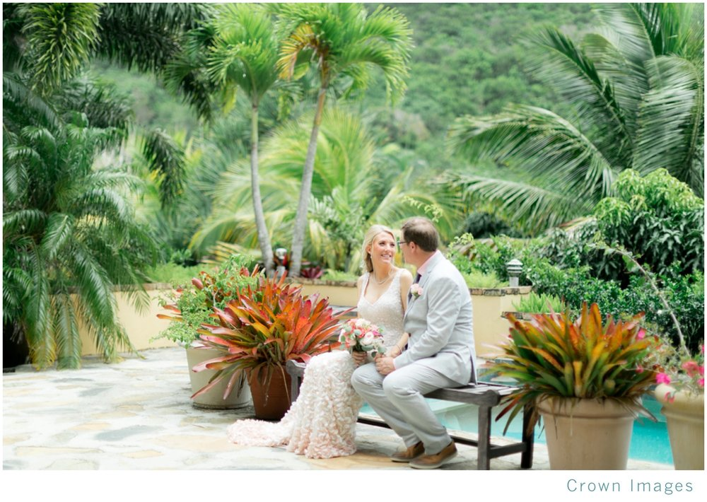tropical garden wedding virgin islands