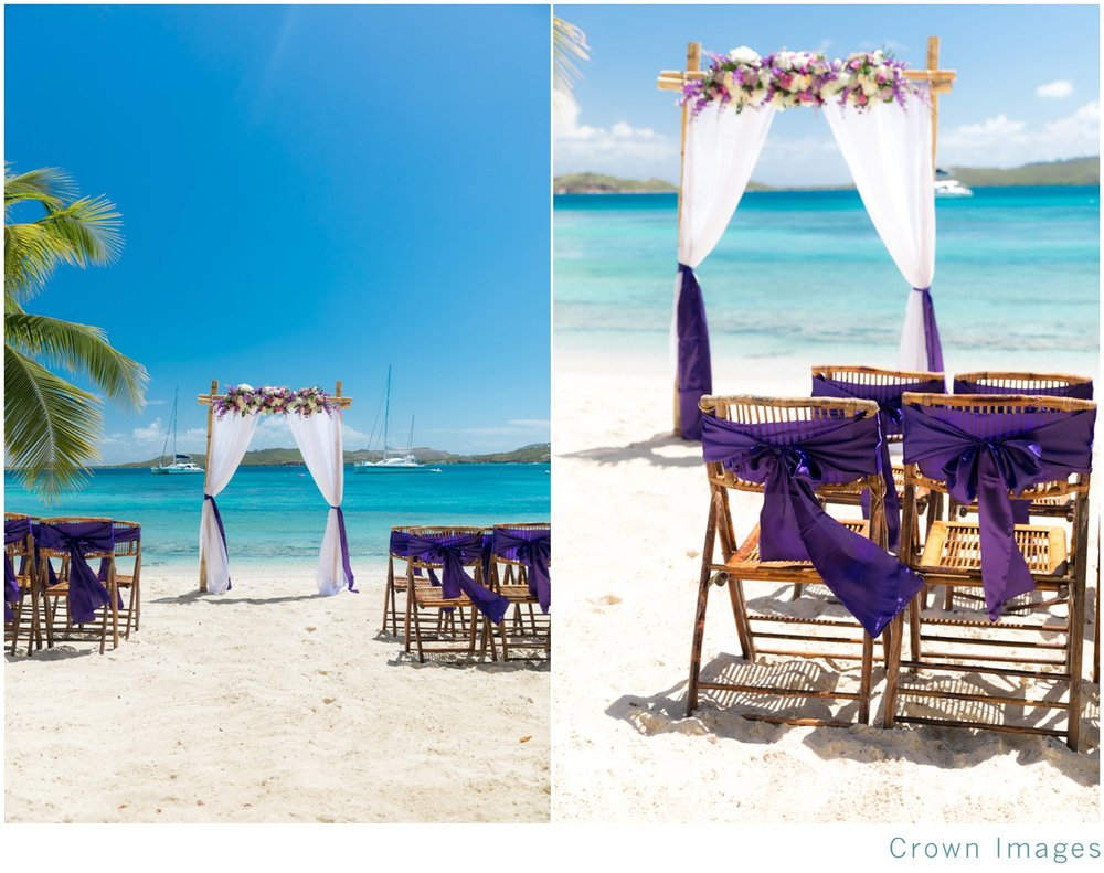 st thomas beach wedding arch