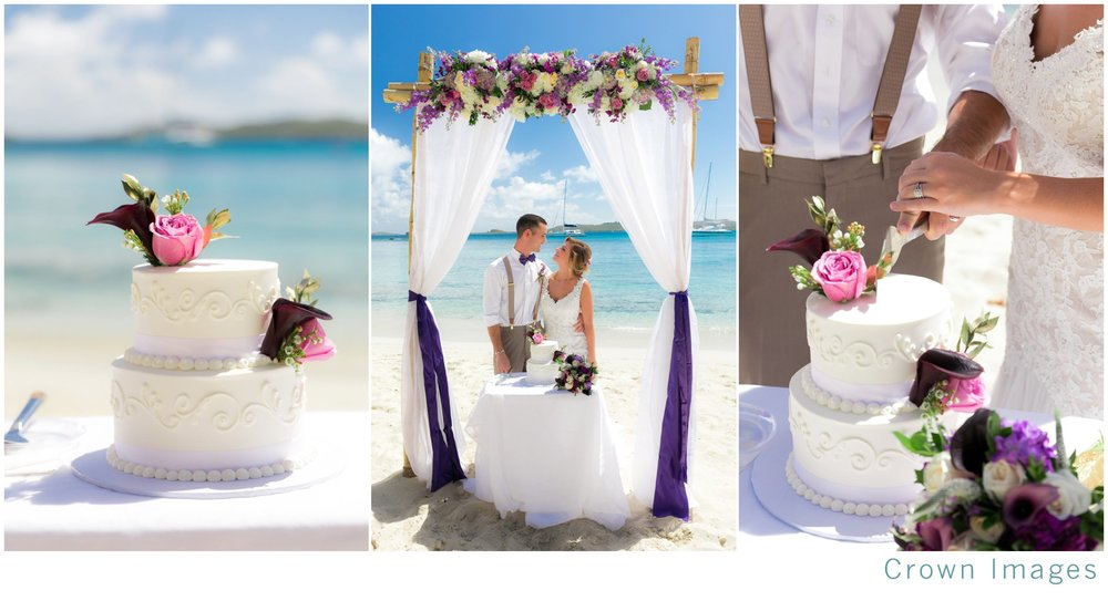 wedding cake on the beach usvi
