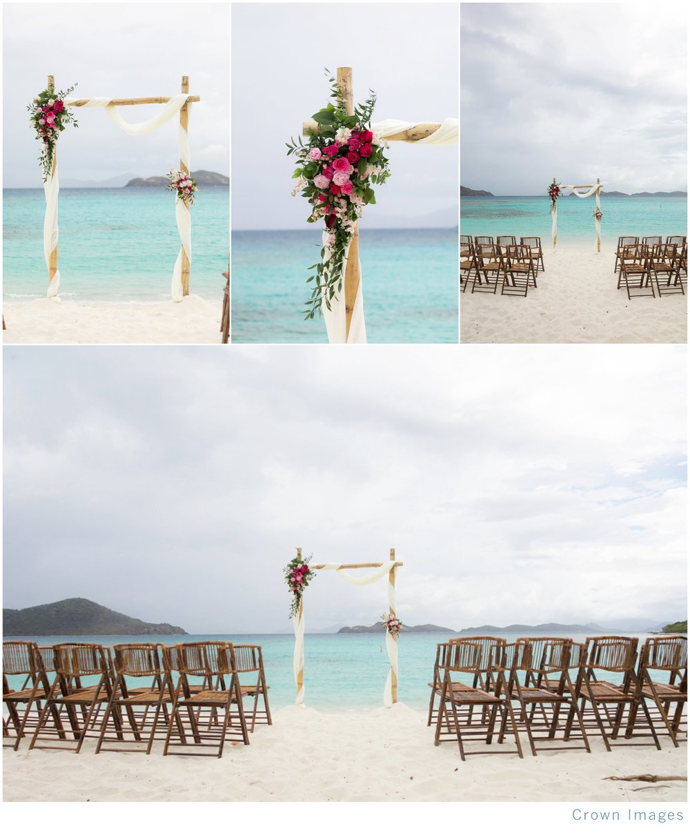 wedding arch on st thomas beach