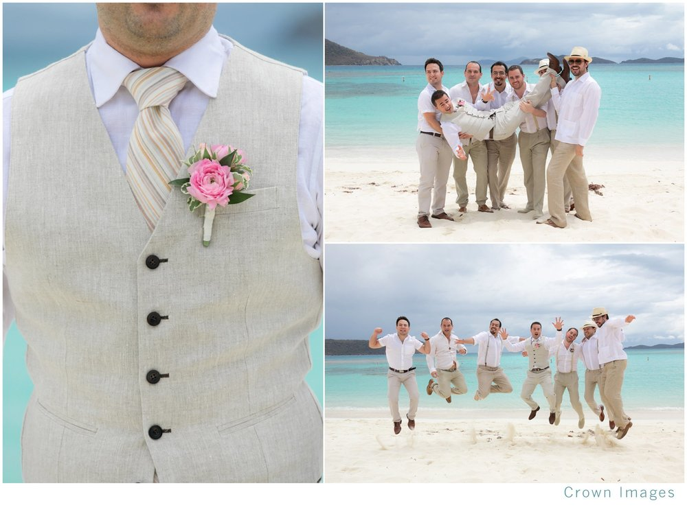groom attire for a beach wedding