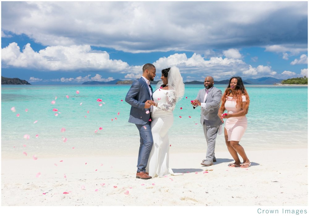 virgin islands beach wedding photos