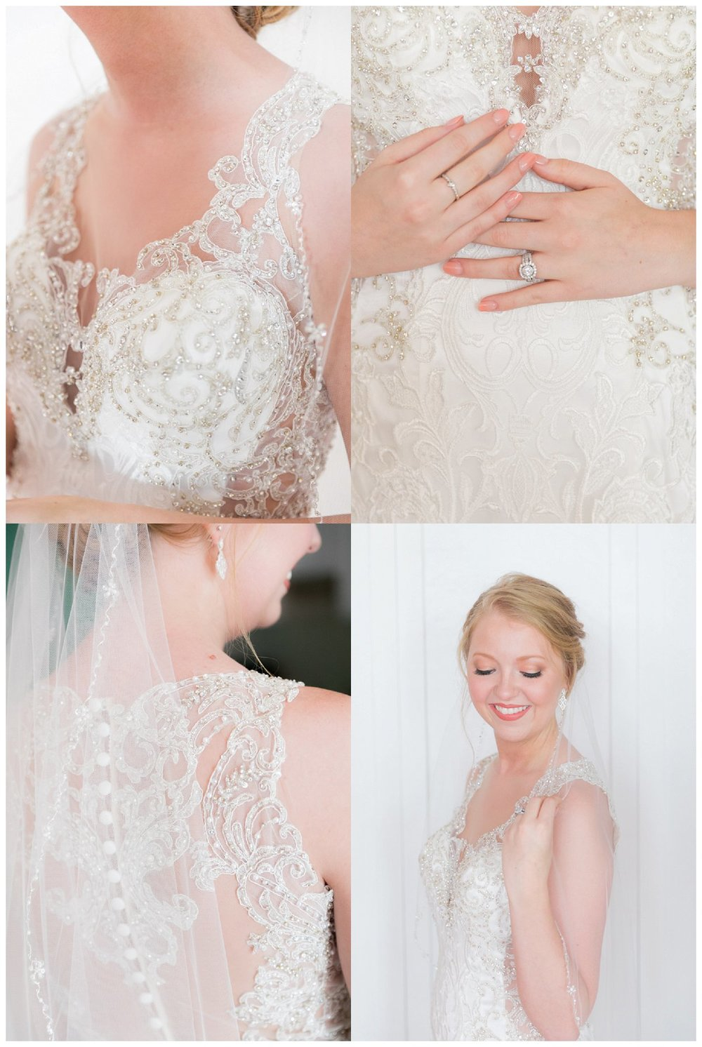 bridal portraits prior to a beach wedding