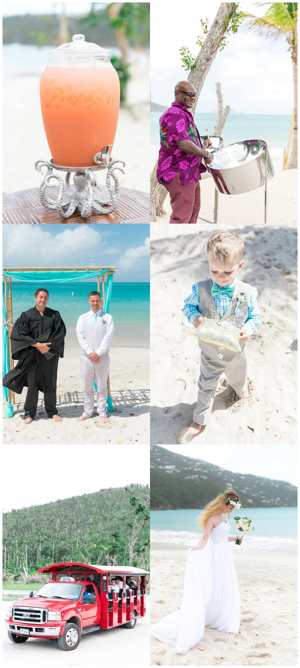 magens bay beach wedding photos