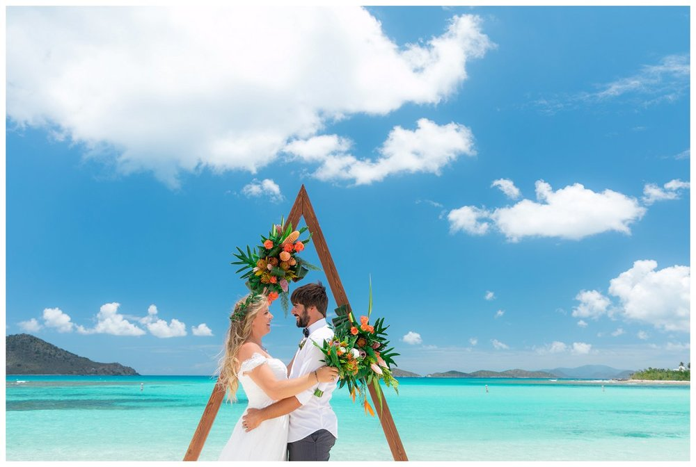 saint thomas beach wedding at lindquist