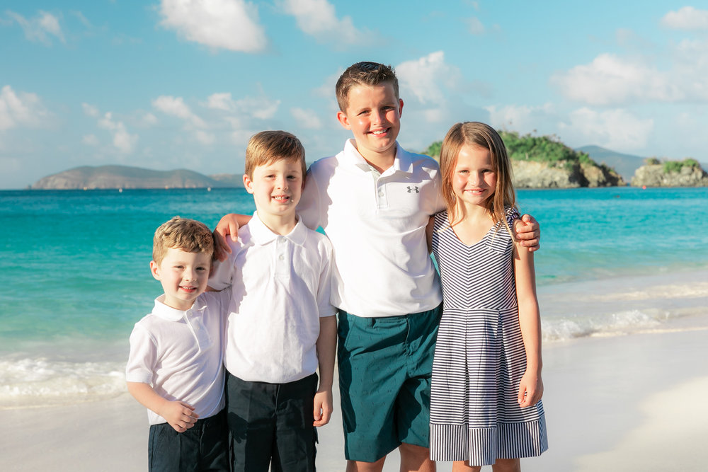 family photo session virgin islands