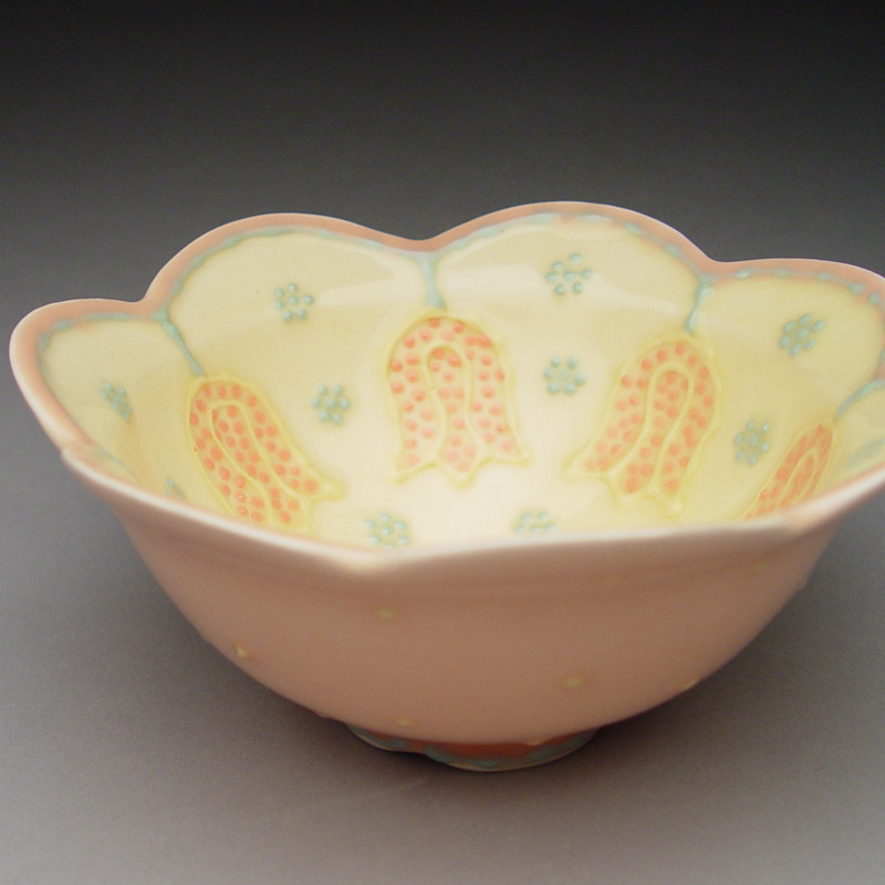 Soup Bowl with Tulips
