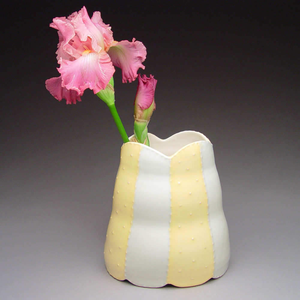 Striped Strapless Vase