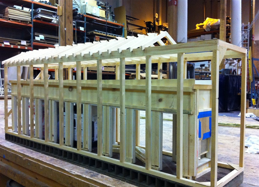 Makin the frame structure for The Longest Hours.