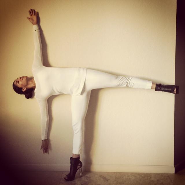 yoga in heels