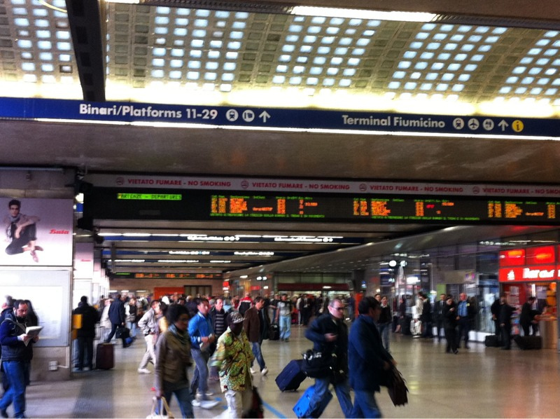 Helvetica everywhere at Rome train station